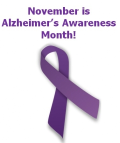 November 2018 Is National Alzheimer's Awareness Month